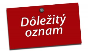 Oznam !!!