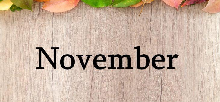 Čo nás čaká v mesiaci November
